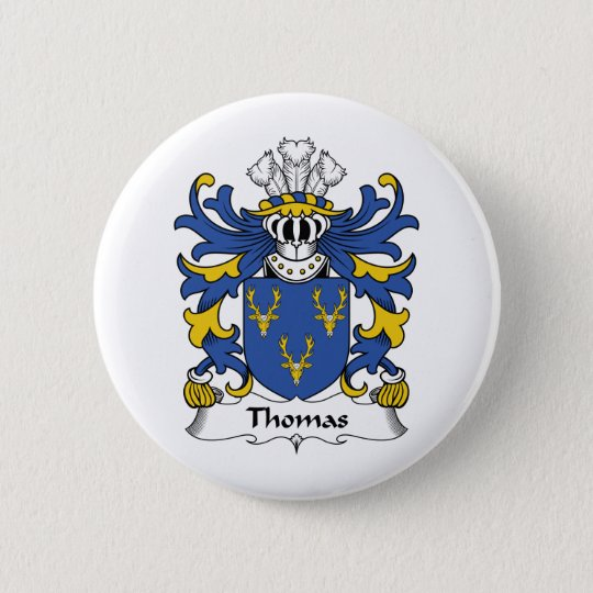 Thomas Family Crest Button