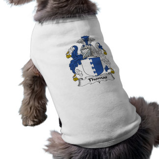Thomas Family Crest Dog Shirt