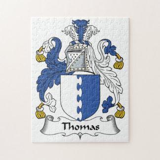Thomas Family Crest Jigsaw Puzzles