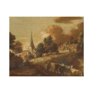 Thomas Gainsborough - An Imaginary Wooded Village Canvas Print