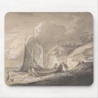 Thomas Gainsborough - Coastal Scene with Figures Mouse Pad