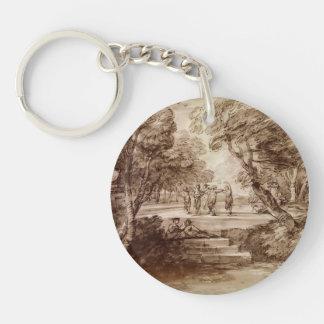 Thomas Gainsborough- Dancers With Musicians Acrylic Key Chain