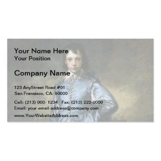 Thomas Gainsborough- el muchacho azul Tarjetas De Visita