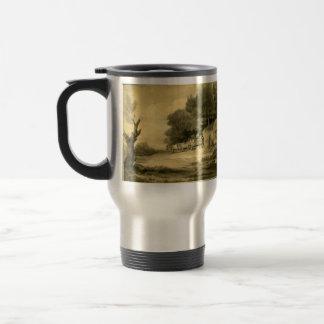 Thomas Gainsborough: Figuras con el carro en el bo Taza De Café