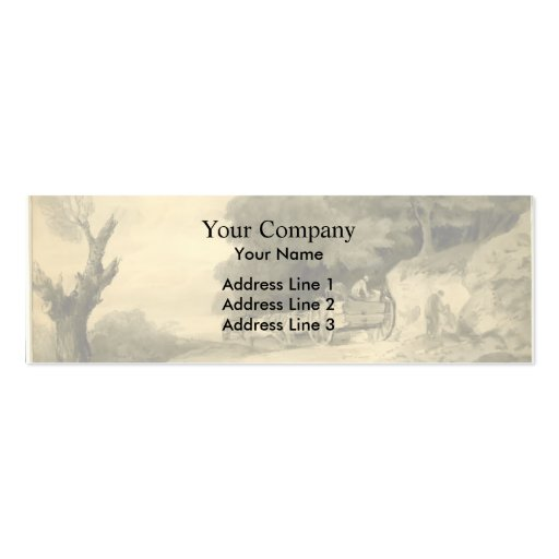 Thomas Gainsborough:Figures with cart at roadside Business Card