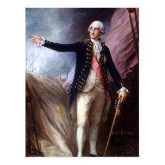 Thomas Gainsborough-George Brydges Rodney, Admiral Postcard