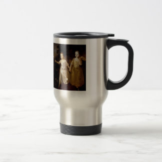 Thomas Gainsborough- Girls chasing a Butterfly 15 Oz Stainless Steel Travel Mug
