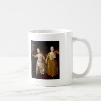 Thomas Gainsborough- Girls chasing a Butterfly Classic White Coffee Mug