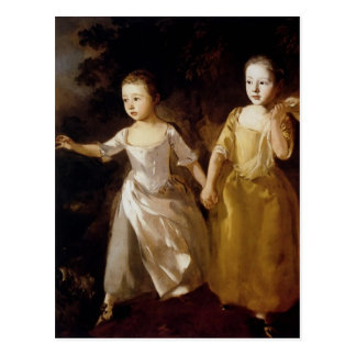 Thomas Gainsborough- Girls chasing a Butterfly Postcard