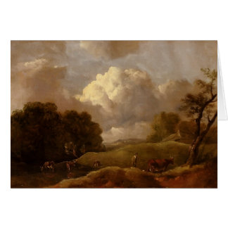 Thomas Gainsborough:Landscape With Cattle,A Drover Card