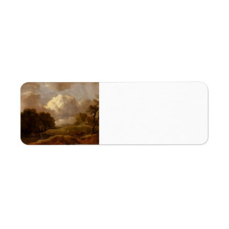 Thomas Gainsborough:Landscape With Cattle,A Drover Return Address Label