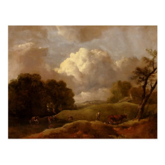 Thomas Gainsborough:Landscape With Cattle,A Drover Post Card