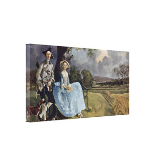 Thomas Gainsborough - Mr and Mrs Andrews Canvas Print