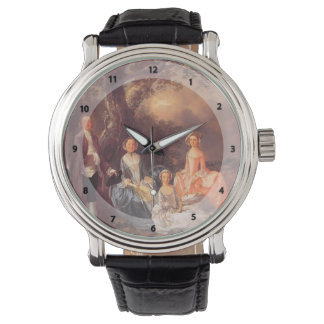 Thomas Gainsborough-Mr&Mrs.John Gravenor & family Wrist Watch