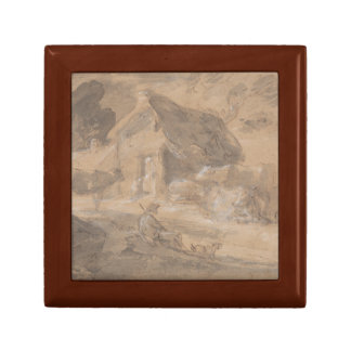 Thomas Gainsborough - Open Landscape with Figures Jewelry Box