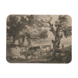 Thomas Gainsborough - paisaje enselvado con Herdsm Iman