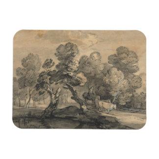 Thomas Gainsborough - paisaje enselvado Imanes Rectangulares