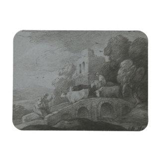Thomas Gainsborough - paisaje enselvado Rectangle Magnet