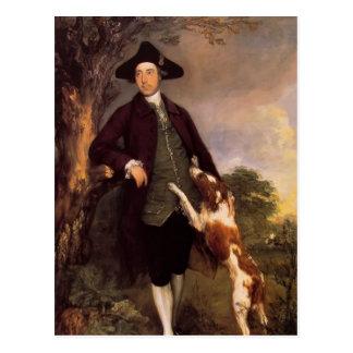 Thomas Gainsborough- Portrait of George Vernon Postcard