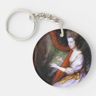 Thomas Gainsborough- Portrait of Louisa Key Chain