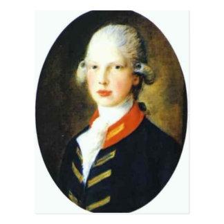 Thomas Gainsborough- Portrait of Prince Edward Postcard