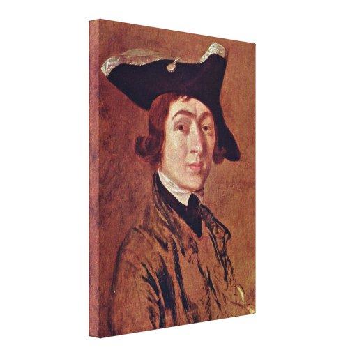 Thomas Gainsborough - self-portrait Gallery Wrap Canvas