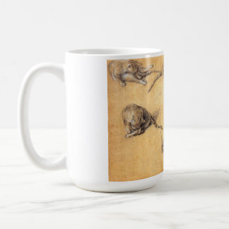 Thomas Gainsborough. Six studies of a cat Coffee Mug