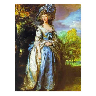 Thomas Gainsborough- Sophia Charlotte Postcard