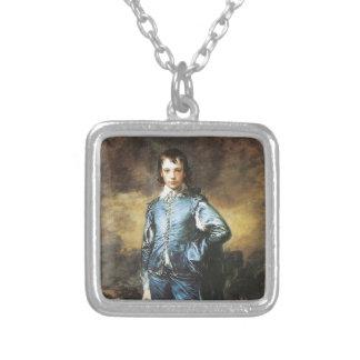 Thomas Gainsborough The Blue Boy Square Pendant Necklace