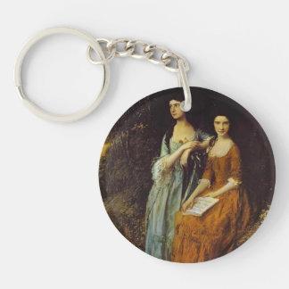 Thomas Gainsborough- The Linley Sisters Key Chain