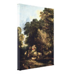 Thomas Gainsborough - The market carts Gallery Wrapped Canvas