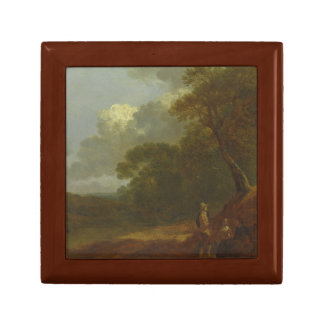 Thomas Gainsborough - Wooded Landscape with a Man Jewelry Box