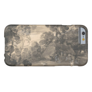 Thomas Gainsborough - Wooded Landscape with Figure Barely There iPhone 6 Case