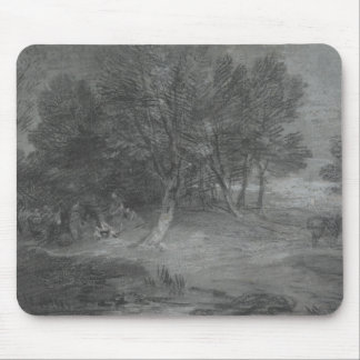 Thomas Gainsborough - Wooded Landscape with Gypsy Mouse Pad