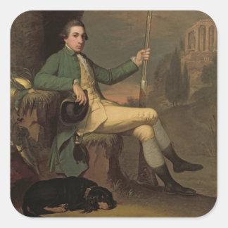 Thomas Graham, barón Lynedoch (1748-1843) c.1769 ( Pegatina Cuadrada