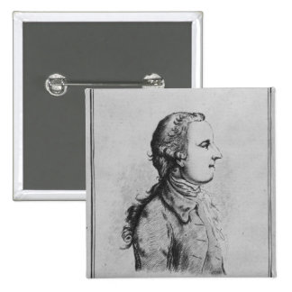 Thomas Gray, drawn by William Henshaw 2 Inch Square Button