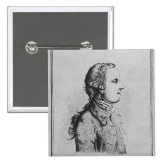 Thomas Gray, drawn by William Henshaw Pinback Button