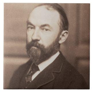 Thomas Hardy (1840-1928) (foto de la sepia) Azulejo Cuadrado Grande