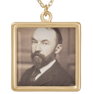 Thomas Hardy (1840-1928) (sepia photo) Gold Plated Necklace