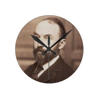 Thomas Hardy (1840-1928) (sepia photo) Round Clock