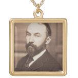 Thomas Hardy (1840-1928) (sepia photo) Square Pendant Necklace