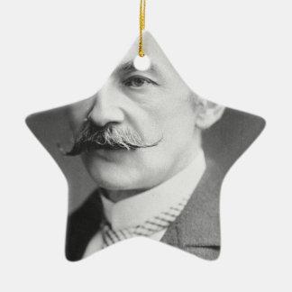 Thomas Hardy Black And White Portrait Ceramic Ornament