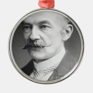Thomas Hardy Black And White Portrait Metal Ornament