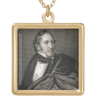 Thomas Hart Benton, engraved by William G. Armstro Square Pendant Necklace