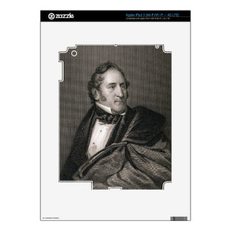 Thomas Hart Benton, engraved by William G. Armstro iPad 3 Skins