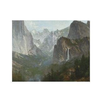 Thomas Hill - Indians at Campfire, Yosemite Valley Canvas Print