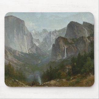 Thomas Hill - Indians at Campfire, Yosemite Valley Mouse Pad