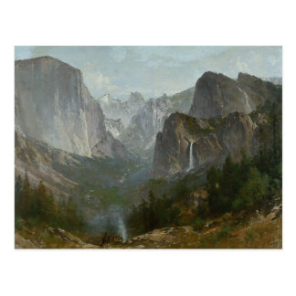 Thomas Hill - Indians at Campfire, Yosemite Valley Postcard