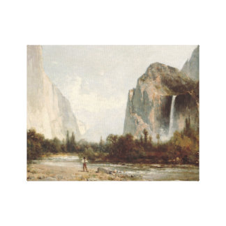 Thomas Hill - Yosemite, Bridal Veil Falls Canvas Print