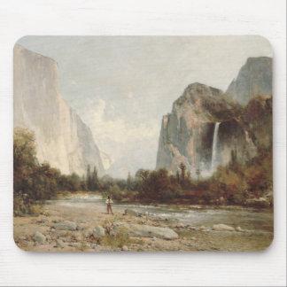 Thomas Hill - Yosemite, Bridal Veil Falls Mouse Pad